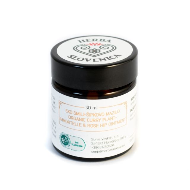 Organic Curry Plant - Immortelle & Rose Hip Ointment